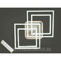 Потолочная LED-люстра, 135W 11015/2+2X WH LED 3color dimmer (белая,коричневая,серая)