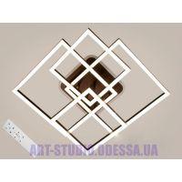 Потолочная LED-люстра, 135W 11015/2+2CF LED 3color dimmer (белая,коричневая,серая)