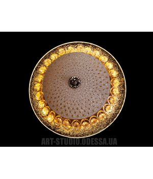 Потолочный светодиодный светильник 30Вт  66067-300-1A  (золото)