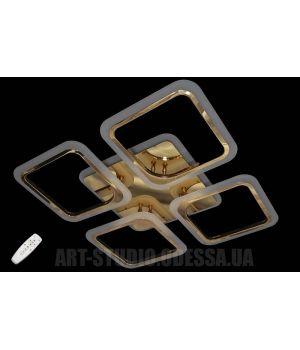 Люстра светодиодная 5588-4 FG (хром,золото,черный хром)
