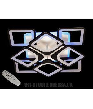 LED-люстра с диммером и цветной подсветкой, 165W S8060/4+4BK LED 3color dimmer (белая,черная,коричневая,серая)