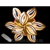 Потолочная LED-люстра, 145W 8092/6+3G LED 3color dimmer (хром,золото)