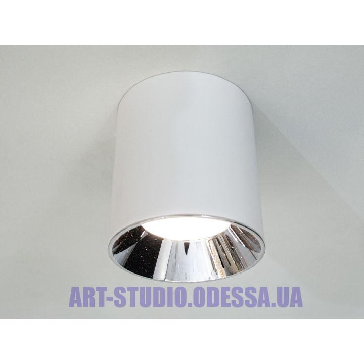 Накладной точечный светильник 116R-110-WH+SL