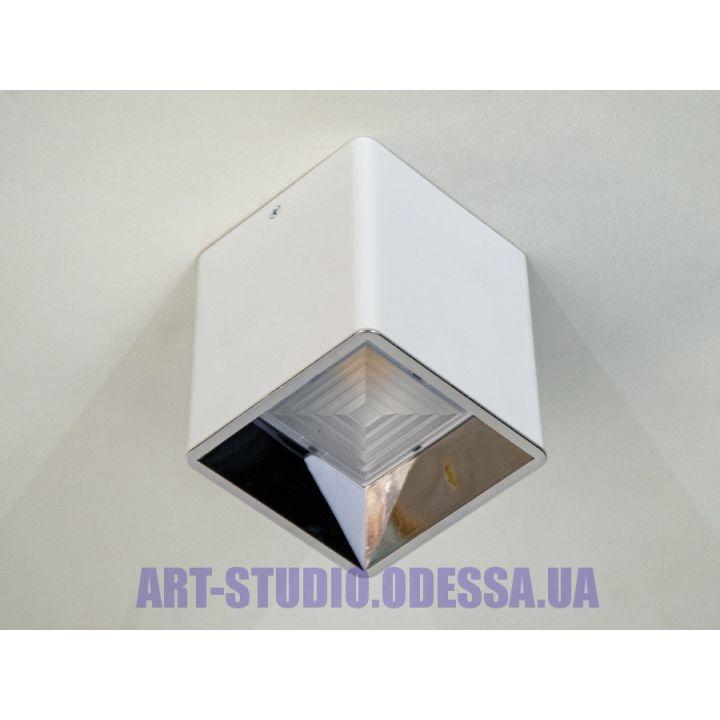 Накладной точечный светильник 116S-110-WH+SL