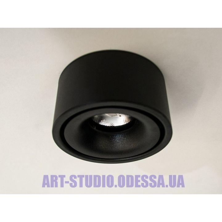 Накладной точечный светильник 117Y-BK (белый, черный)