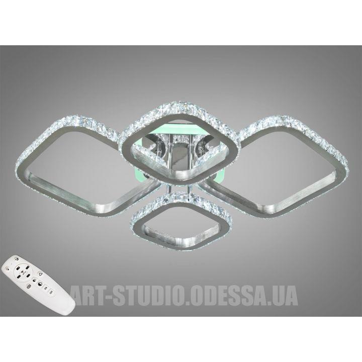 Хрустальная LED-люстра с RGB подсветкой, 75W 8303/2+2NEW HR LED RGB dimmer