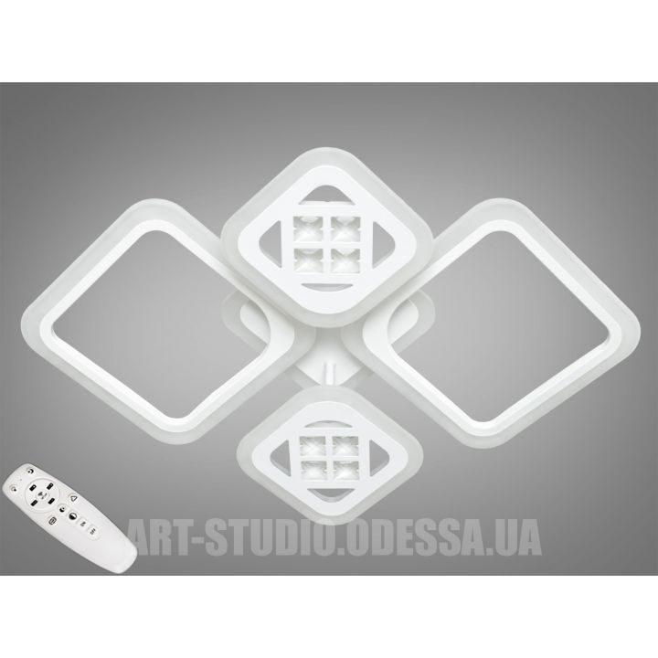Потолочная светодиодная люстра с диммером 85W A2101/2+2WH LED 3color dimmer