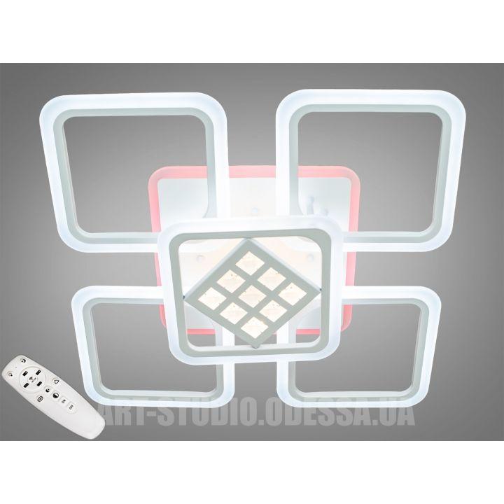 Потолочная светодиодная люстра с диммером 145W A2101/4+1WH LED 3color dimmer