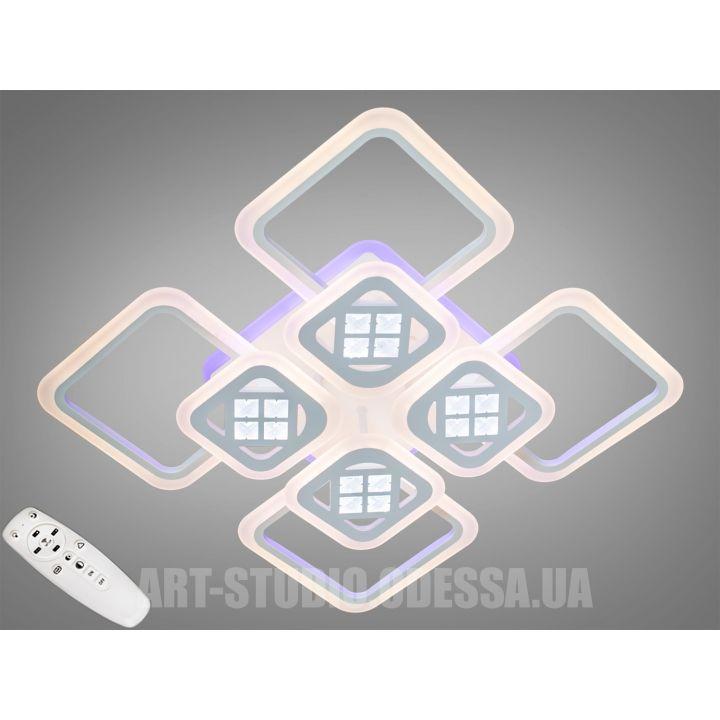 Потолочная светодиодная люстра с диммером 200W A2101/4+4WH LED 3color dimmer