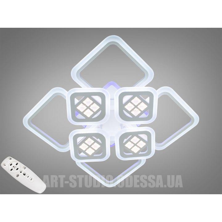 Потолочная светодиодная люстра с диммером 200W A2103/4+4 WH LED 3color dimmer