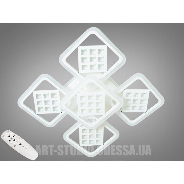Потолочная светодиодная люстра с диммером 165W A2104/4+1WH LED 3color dimmer
