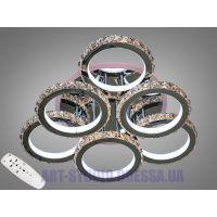 Хрустальная LED-люстра с RGB подсветкой, 170W 8306/3+3HR LED RGB dimmer