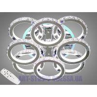 Хрустальная LED-люстра с RGB подсветкой, 225W 8306/4+4HR LED RGB dimmer