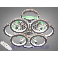 Хрустальная LED-люстра с RGB подсветкой, 225W 8306/4+4NEW HR LED RGB dimmer