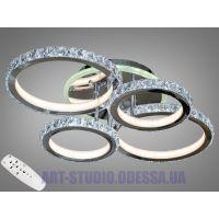 Хрустальная LED-люстра с RGB подсветкой, 140W 8306/4HR LED RGB dimmer