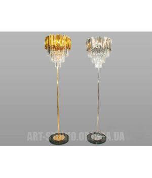 Классический торшер 901-F-G (хром,золото)