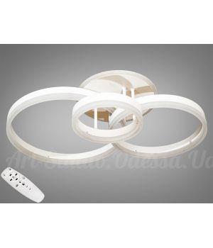 LED-люстра с диммером и RGB подсветкой, 80W  8174/3WH
