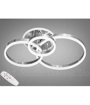 LED-люстра с диммером и RGB подсветкой, 80W  8174/3NEW HR