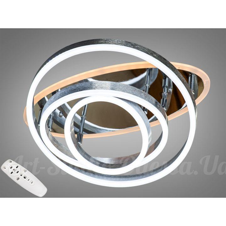 Потолочная светодиодная люстра с диммером 95W  7004/3NEW HR